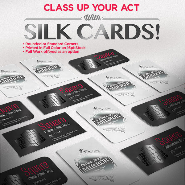 Silk Laminated Business Cards